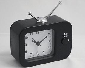 直輸入フランスデザイン、キュートな置き時計「アナログテレビ」 (EC-REV2181)