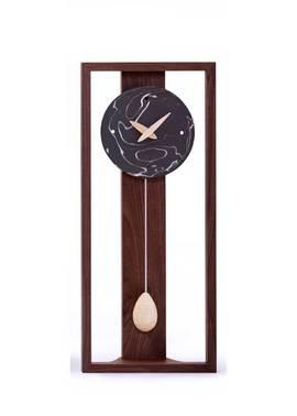 振り子時計 陶板 おしゃれ 天然木 北海道 国産 日本製 アナログ マーブル (DP-MARBLE)