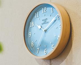 掛け時計 電波 小型 北欧 木製 ステップムーブメント アナログ ノルシェ (IF-CL1688)