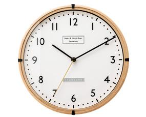 掛け時計 電波時計 薄型 木製 小型 北欧 ステップムーブメント コフェン 掛置兼用 (IF-CL2549)
