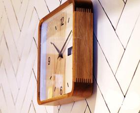 掛け時計 木製 カレンダー表示 ステップムーブメント アナログ ボネル (IF-CL2551)