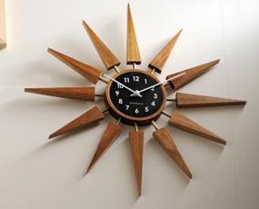 掛け時計 北欧 ミッドセンチュリー スイープムーブメント アナログ ハロルト (IF-CL2559)