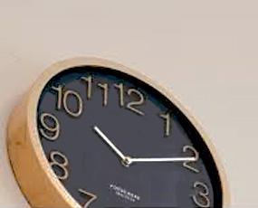 掛け時計 電波時計 木製 ステップムーブメント プロック (IF-CL2940)