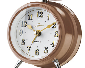 目覚し時計 アナログ アラーム 寝室 置き時計 ベル音 ノーフェルデン (IF-CL2964)