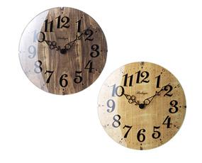 掛け時計 木製 電波時計 おしゃれ ステップムーブメント 北欧 レトラ (IF-CL6867)
