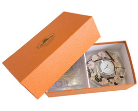 置き時計 ドイツ製 花のガラス時計 ギフト 贈り物 CDD7204 ローズ (IK-CDD7204)