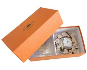 置き時計 ドイツ製 花のガラス時計 ギフト 贈り物 CDD7238 ホワイト (IK-CDD7238)