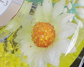 置き時計 ドイツ製 花のガラス時計 ギフト 贈り物 CDD7241 バラ (IK-CDD7241)