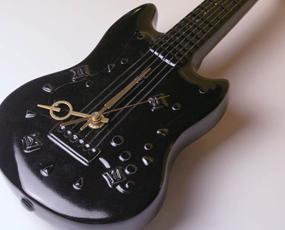 掛け時計 日本製 陶器 ギター エレキギター 音楽 楽器 時計(IR-CHE)