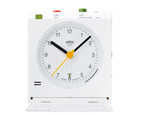ブラウン(BRAUN) BNC005 目覚し時計 電波時計 アラーム モダン 小型 置き時計 ドイツ (KC-BNC005)