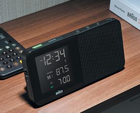 ブラウン(BRAUN) BNC010 目覚し時計 電波時計 デジタル アラーム モダン 小型 置き時計 ドイツ (KC-BNC010)