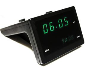 ブラウン(BRAUN) BNC016 目覚し時計 電波時計 デジタル アラーム モダン 小型 置き時計 ドイツ (KC-BNC016BK)