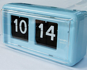 TWEMCO トゥエンコ 置き時計 パタパタ時計 ロータリークロック 掛置兼用 (OP-QT-30)