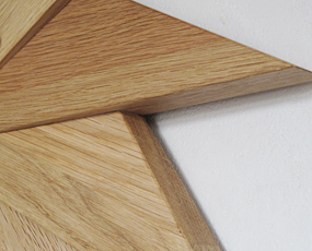 掛け時計 木製 アナログ 天然木 ハンドメイド 寄せ木時計 風 (PM-0030414OA)