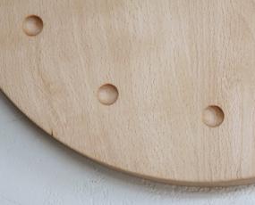 掛け時計 木製 天然木 ビーチ ハンドメイド 寄せ木時計 丸  (PM-0040250BE)