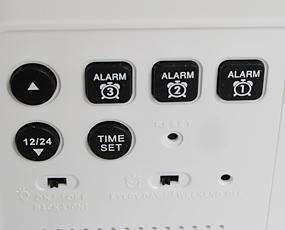 置き時計 LCD時計 アラーム(複数) デジタル カレンダー ライト 温度計 「シーザ」
