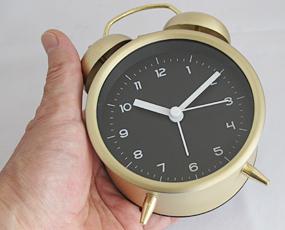 目覚し時計 ベル 大音量 レトロ メタル ブルーナ (PL-002)