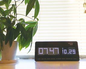 掛け時計 電波時計 LED時計 デジタル カレンダー表示 スターキー starkey 掛置兼用 (TRI-STARKEY)