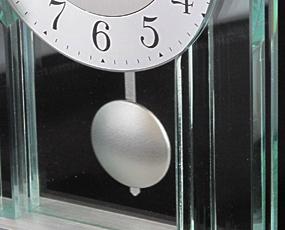 AMS ドイツ製 置き時計 1168 アナログ ガラス 振り子 【期間限定35%OFF!】 国内在庫 即納 (AMS1168J)
