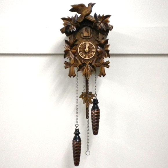 森の時計、木製からくり鳩時計 522QM