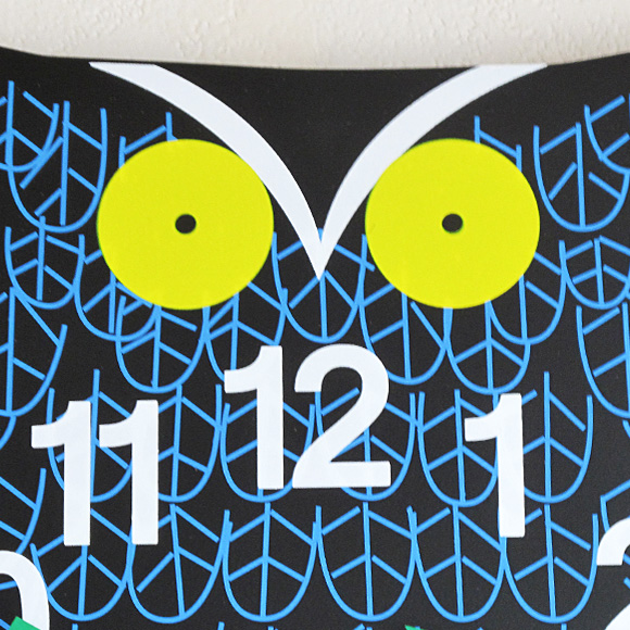 ジョージ・ネルソン 掛け時計「ZooTimer Clock フクロウ」 (KC-GN091101)