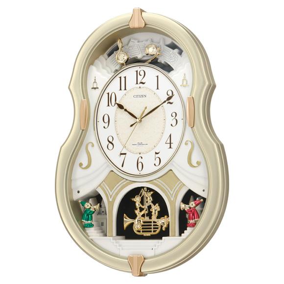 【特価2割引】シチズン からくり時計 パルミューズコンチェル(4MN496-018)