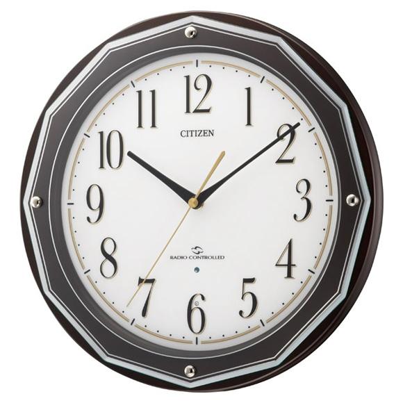 【特価2割引】シチズン掛け時計スリーウェイブM804(4MY804-006)