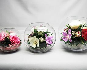生花の美しさを閉じ込めた「クリスタル・フィオーレ(ラウンドM)」(FL-CFroundM)