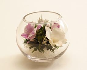 生花の美しさを閉じ込めた「クリスタル・フィオーレ(ラウンドS)」(FL-CFroundS)