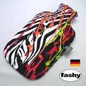 ファシー FASHY 湯たんぽ ドイツ製 2リットル カラフルデザイン・ゼブラ (SSa077ZB)