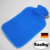 湯たんぽ [ドイツfashy製] シンプルニット湯たんぽ ブルー 2リットル ※特典付! (SSa042BL)