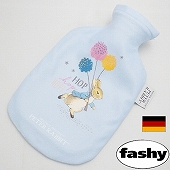湯たんぽ [ドイツfashy製] キャラクター湯たんぽ ピーター・ラビット  フリーススモール 0.8リットル (SSa052)