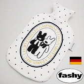 湯たんぽ [ドイツfashy製] キャラクター湯たんぽ リサとガスパール フリース ドット 2リットル (SSa054)