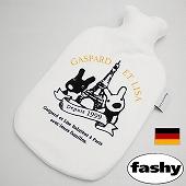 湯たんぽ [ドイツfashy製] キャラクター湯たんぽ リサとガスパール フリース ホワイト 2リットル (SSa055)